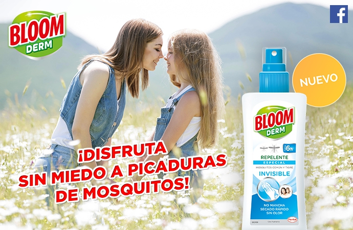 ¡Sorteamos 50 lociones repelentes Bloom Derm Invisible!